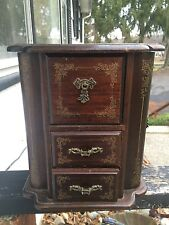 ANTIQUE Swivel JEWELRY BOX Made in JAPAN