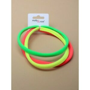 3 x Neon Soft Stretch Sport Party Headband Head Band Pack of 3