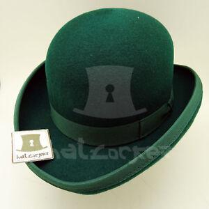 VINTAGE Wool Felt Kids Dura Bowler Top Hat Boys Derby | 52cm | Black Grey Green
