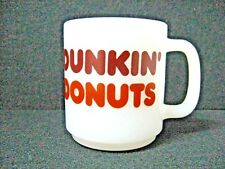 RARE Dunkin' Donuts milk white coffee mug GLASBAKE