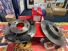 Honda Civic MK8 Type R Rear Brake Discs and Pads BREMBO DRILLED HIGH PERFORMANCE