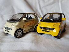 Smart City Coupe, 2 Stück 1:33, Maisto- Promotion-Sondermodelle