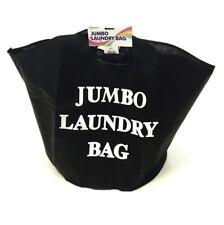 JUMBO LAUNDRY WASHING BAG STORAGE CLOTHES BATHROOM STUDENT KIDS SACK TOYS BLACK