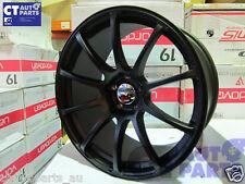 19 x9.5 ADVAN RACING Style Matt Black Alloy Wheels Rim 5x114.3 EVO GTR S15