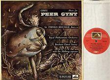 OASD 258 BEECHAM/HOLLWEG grieg music for peer gynt hmv australia LP PS EX-/EX-