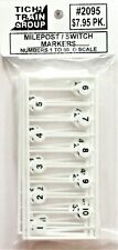 O Scale Tichy Train Group 2095 Milepost Signs 1 to 60 (60) pcs
