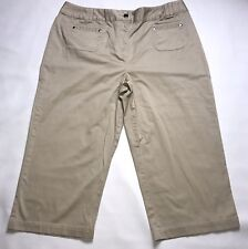 418076fd251c7 Cato Cropped Capri Pants Womens Plus Size 16 Cotton Stretch Tan