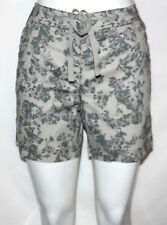NEW Style & Co. 4 Petite Printed Drawstring Boyfriend Shorts STONEWALLL