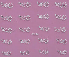 Nail Art 3D Decal Stickers White Daisy Flower XF124