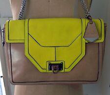 NEW Rebecca Minkoff Collection Allie Brown Colorblock Shoulder Bag, Orig:$895