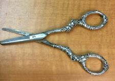 Gorham Sterling Silver Handle Victorian Grape Shears Scissors Rusty German Blade
