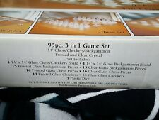 Fifth avenue crystal chess set new used once.