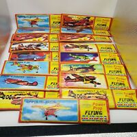 Lot of 17 Power Prop Flying Gliders Styrofoam Fighter War Airplanes Fast Build