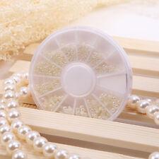 Weisse Perlen Nail Art Steine Perlen Acryl Nagel Tipps Kunststoff 1.5/2.0/3.0mm