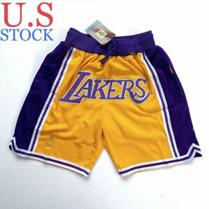 Los Angeles Lakers Men's Stitched Just Don Summer League Yellow Shorts