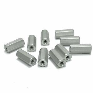 "(PKG of 10) Standoff, 1/4"" Hex, F-F, 4-40, 5/8"" Length, Aluminum"
