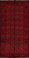 Geometric Balouch Afghan Oriental Area Rug Traditional Wool Hand-Knotted 4'x8'