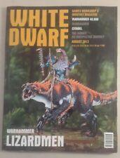 WHITE DWARF MAGAZINE AGOSTO 2013 WARHAMMER lizardman