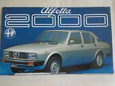 Alfa romeo alfetta 2000 brochure c1977 petit format