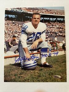 Yale Lary (Deceased) Signed 8 X 10 Photo Tristar COA Detroit Lions Hall Of Fame