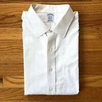 Brooks Brothers 1818 Classic Men Shirt 18  34 Non Iron Supima White Dress Shirt