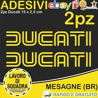 2 Adesivi Stickers DUCATI OLD panigale 848 1098 999 749 916 998 748 996 GIALLO