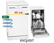 45cm Geschirrspüler A++ LED Startzeitplanung Spülmaschine Weiß exquisit GSP9109