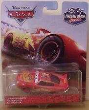 Disney Pixar Cars ~ Lightning McQueen ~ bola de fuego Beach Racers DIE-CAST