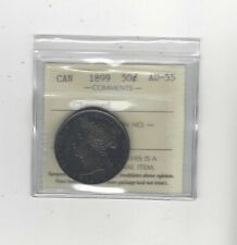 1899  Small 1st 9, ICCS Graded Canadian Silver 50 Cent, **AU-55 Cleaned**