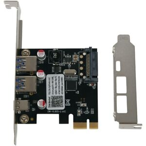 Usb 3.1 Type C Pcie Expansion Card Pci-E To 1 Type C And 2 Type A 3.0 Usb