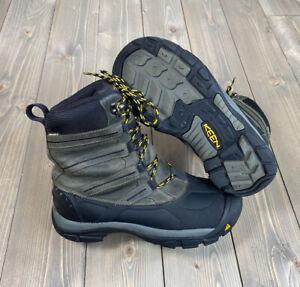 KEEN Mens Summit County II Dark Shadow/Yellow Snow Hiking Boots Size 8.5