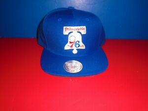 Philadelphia 76ers Mitchell & Ness Liberty Bell Logo Wool Adjustable Fit Hat NEW