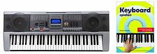 Klasse 61 Tasten Keyboard mit Keyboardschule 100 Sounds und Rhythmen USB MP3