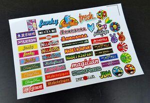 Precut 1/10 RC Micro JDM Style Drift Stickers, Decal Sheet, Body Shell, Drift
