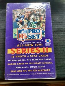 NFL Pro-Set  1991 Official Series-2, Football cards, Factory Sealed. 36 Wax pack