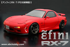 ABC HOBBY RC 1/10 Zero-One Super Body RX-7 FD3S Clear Body Drift Hashiriya