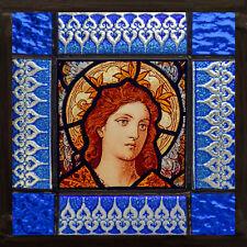 Angel suncatcher, kilnfired, stained glass, blue angel, angel stained glass