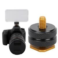 """1/4"""" Tripod Mount Screw to Flash Hot Shoe Adapter for Canon Nikon & Light Stand"""