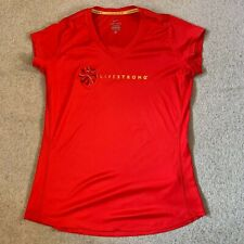 Nike Livestrong Dri Fit ladies sports fitness top in red - large size - rare