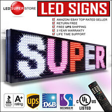 """LED SUPER STORE: 3COL/RWP/IR 15""""x78"""" Programmable Scrolling EMC Display MSG Sign"""