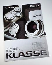 Fujifilm 35mm Film Camera Klasse W f/2.8 and S Sales Brochure - Full Color Mint