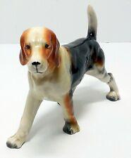 Vintage Beagle Foxhound Hunting Dog Victoria Ceramics Made in Japan