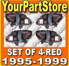 95 96 97 98 CHEVY GMC TRUCK 95-99 Suburban TAHOE INSIDE DOOR HANDLE RED Set of 4
