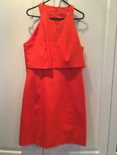 Karen Millen Dress Orange Colour Size 14 New with tag sleeveless round neck