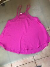 LADIES CUTE PURPLE PINK POLYESTER SLEEVELESS TOP BY SUPRE - SIZE S - AUS 8/10
