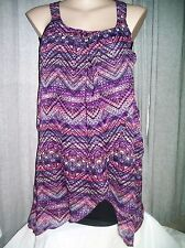 Crossroads Lined black purple prism overlay desk to dinner DRESS 16 NEW