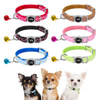 6pcs/lot Nylon Dog Cat Breakaway Collars 4 Patterns Safety for Pet Puppy Kitten