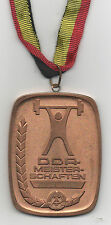 Orig.Bronzemedaille   DDR - Meisterschaft 1985 - Gewichtheben / am Band  !!  TOP