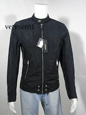 New DIESEL Biker/ Motorcycle Satin Nylon J-EDG-Clean Jacket Black size M