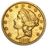 1866-1876 $20 Liberty Gold Double Eagle Type 2 XF (Random Year) - SKU #64257